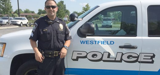 Billy Adams has been with the Westfield Police Dept. since 2007. (Photo by Jenna Liston)