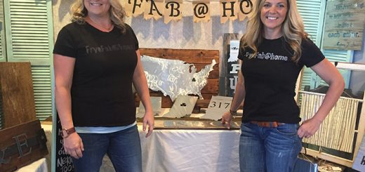 Jessica Frye, left, and Emily Janak created a metal décor shop out of Frye's husband's scrap metal. (Photo by Anna Skinner)