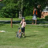Carter Wilt competes in biking, swimming and running at a previous kids triathlon. (Submitted photo)
