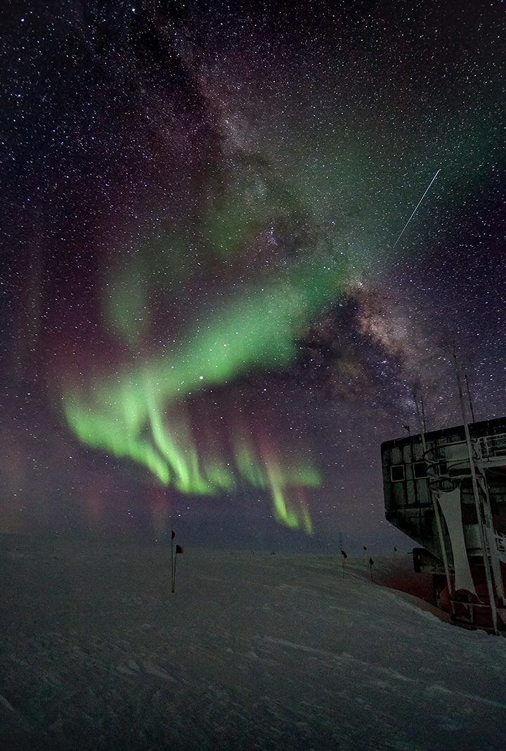 Bruce Tischbein captured a photo of the view of the southern lights from the South Pole. (Submitted photo)