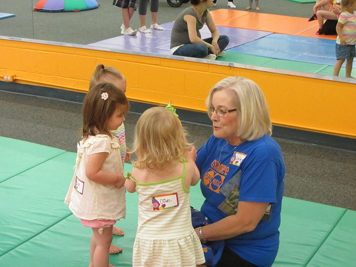 Wendy Shultz teaches a group of toddlers at Gymboree. (Submitted photo)