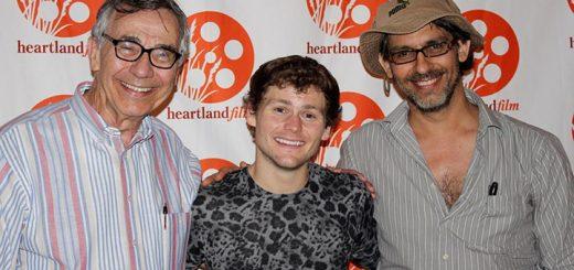 Heartland Interim president Frank Basile, Drew Lynch and Jeff Basile on the red carpet.