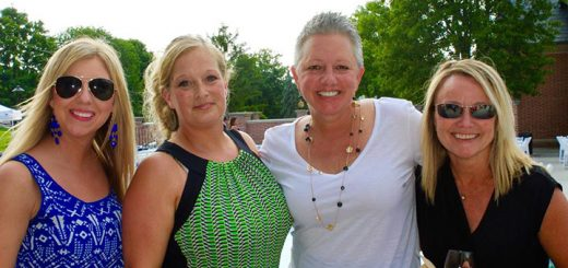 Jill Stebing (Fishers), Paula LeMaster (Fishers), Outside the Box Co-founder Kelly Hartman (Fishers) and Mel Cochran (Fishers) at the beautiful Lucas Estate in Carmel. (Photos by Amy Pauszek for Current Publishing LLC. Copyright 2016. All Rights Reserved.)