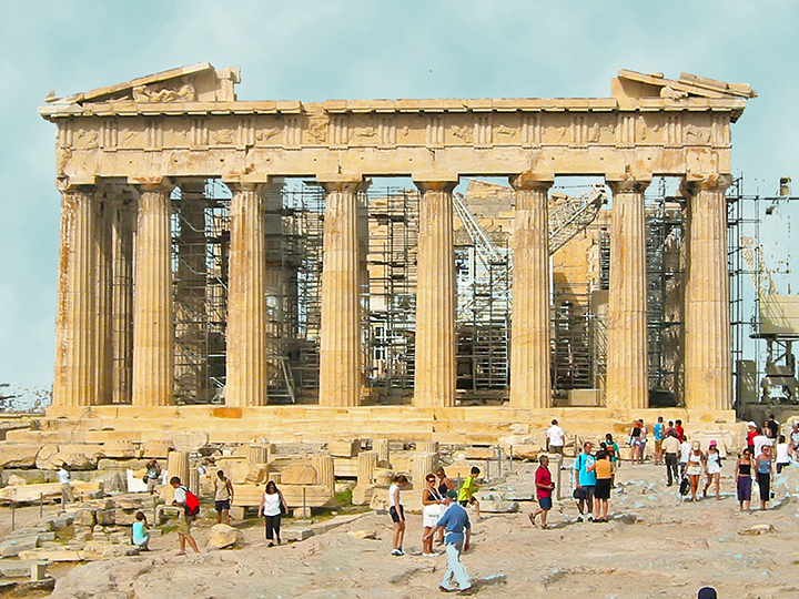 The Eastern End Of Parthenon In Athens Greece Photo By Don Knebel
