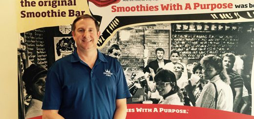 Smoothie King owner Chris Sgroi inside the Fishers location that opened last year. (Photo by Mark Ambrogi)