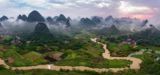 Karst landforms of Yangshuo. (Photos by Brian McGuckin)