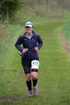 Stefanie Sharp runs 50 miles in the IT100 Chain O'Lakes in Albion, Ind. (Submitted photo)