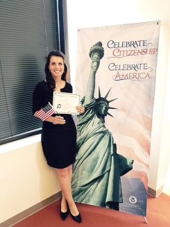 Stefanie Sharp became a U.S. citizen on May 19. (Submitted photo)