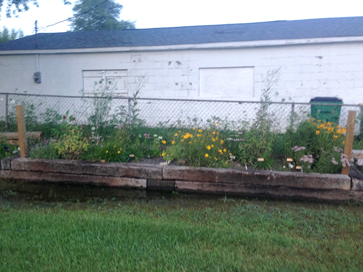 Marissa Barrows earned the Girl Scout Gold Award by building a butterfly garden at Westfield Playhouse. (Submitted photo)