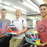 From left, Michael Goodyear, Jack Miller, Jr. and Austin Kaszuba make up the Formula 4 team based in Westfield. (Photo by Anna Skinner)