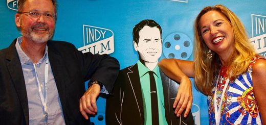"""Where's Amy loved catching up with Evansville native filmmakers Patrick O'Connor and Margaret McMullan, whose documentary film """"Invisible Patients"""" was an IFF favorite. They got a kick out of posing on the red carpet with Hoosier actor Greg Kennear at the IFF opening night."""