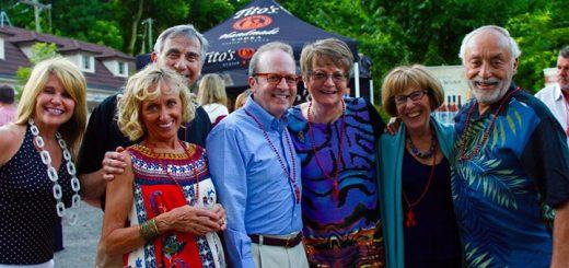 Jenny Bizzoco (Indianapolis), Katrina and Frank Basile (Carmel), Brian and Maggie Kelly (Carmel) with Joan and Doug Zipes (Indianapolis) enjoyed the festivities.