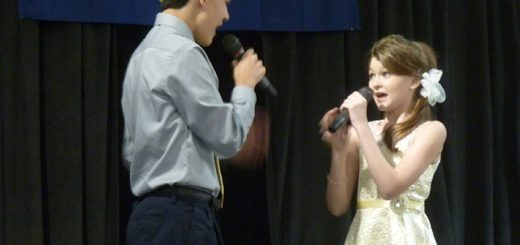Peter Fulton, left, and Brielle Cowger, right, perform at the Hamilton County 4-H Fair Talent Show. (Submitted photos)