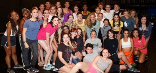 """Where's Amy got to meet the entire cast of """"Legally Blonde: The Musical"""" backstage at Civic Theatre. The students come from all over Indiana to be a part of the Young Artist Theatre Program. They worked well as a team and are a very talented group of young actors."""