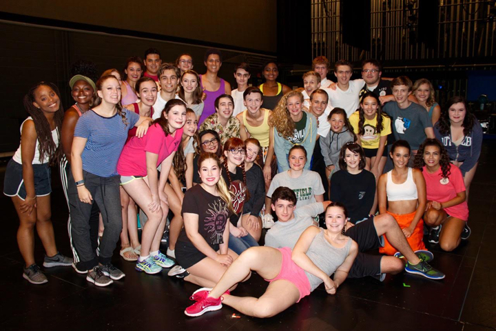 "Where's Amy got to meet the entire cast of ""Legally Blonde: The Musical"" backstage at Civic Theatre. The students come from all over Indiana to be a part of the Young Artist Theatre Program. They worked well as a team and are a very talented group of young actors."