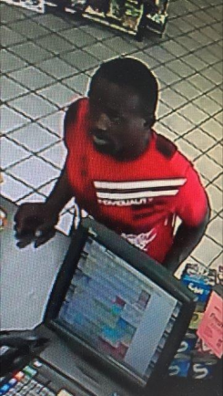 Police are searching for a suspect they say broke into a car at LA Fitness and stole a credit card, using it at several places nearby. (Submitted photo)
