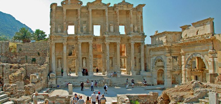 Remains of Ephesus Library (Photo by Don Knebel)
