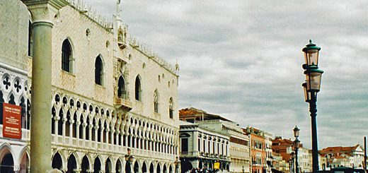 Southern façade of Doge's Palace in Venice. (Photo by Don Knebel)