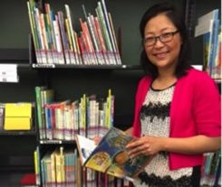 Echo Wu uses storytelling to help teach Chinese language and culture. (Photo by Lauren Boughner)