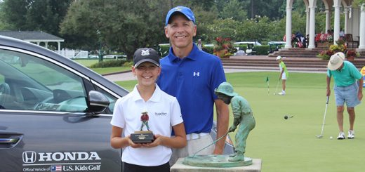 Katie Kuc and her father, Dave, won the U.S. Kids Golf World Parent-Child title in 2015 and hoped to defend their title this year. (Submitted photo)