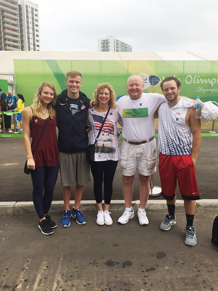 From left, Hollyn, Steele, Jill, Bill and Race Johnson in Rio. (Submitted photo)