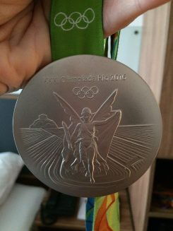 Steele Johnson's Olympic silver medal. (Submitted photo)