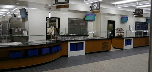 The new serving lines at the Carmel High School main cafeteria. (Submitted photo)
