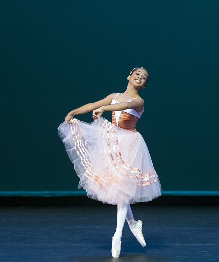 Alexandra Manuel at the Indianapolis City Ballet's Indianapolis International Ballet Competition in 2015. (Photo by Gene Sciavano)