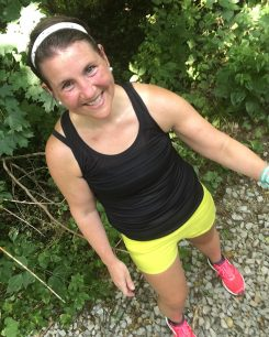 Emma Tillman of Carmel posts photos of herself doing everyday tasks, like running and working, with the hashtag #tpnstrong to let others using TPN see that they can live a normal life. (Submitted photo)