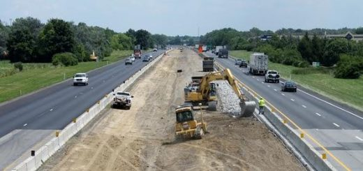 Weather permitting, southbound lanes of I-69 between Exit 210 and Exit 205 will be shifted away from the median during construction of a new southbound lane. (Submitted photo)
