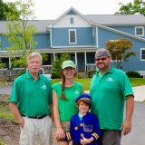Three generations have lived and worked at Geist Nursery since Fred Richwine began the family business in 1977. His daughter, Whitney Klein, is the garden center manager, her husband Andrew is an area chef and their son, Levi, helps out around the nursery. (Photo by Amy Pauszek)