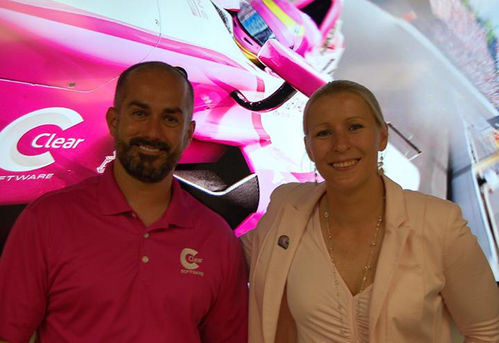 Racecar driver Pippa Mann addresses gender gap in racing, tech