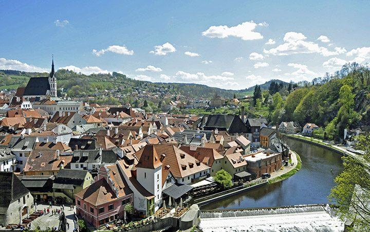 Town of Ceský Krumlov (Photo by Don Knebel)