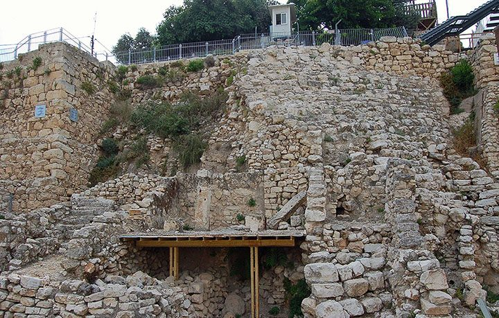 City of David's Stepped Stone Structure. (Photo by Don Knebel)