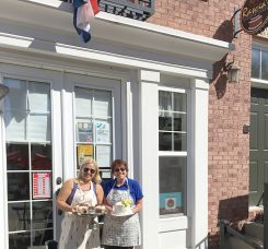 From left, Sandra Newkirk and Rascia Johnson in front of their store. (Submitted photo)