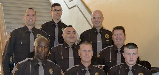 The eight new HCSO reserve deputies are Francisco Contreras-Flores, David Farrell, Jason Ficarra, Mike Fisher, Andrew Howard, Holdan Sanford, Steve Smith and Joe Tanasovich. (Submitted photo)