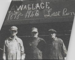 Albert Alfred Wallace, left, worked as an engineer on the Monon Railroad. (Submitted photo)