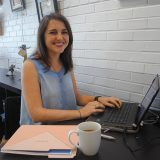 Sarah Hensley created MADEblog, a contributors' blog that launched Sept. 15. (Photos by Anna Skinner)