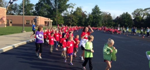 Students at Pleasant View Elementary participate in the 2015 Jog-a-Thon. (Submitted photo)