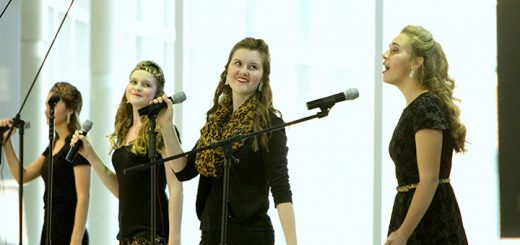 From left, Hannah Jacko, Sophie Miller, Grace Miller and Olivia Jacko perform at the 2015 Cabaret. (Submitted photo)