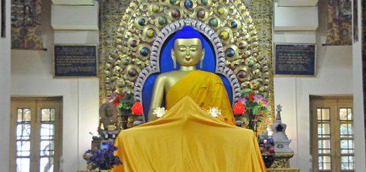 Dalai Lama's Temple in McLeod Ganj, India. (Photo by Don Knebel)