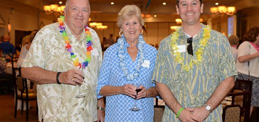 Janet and Roger Dryer along with Rich Taylor (right), Chaucie's Place board president.