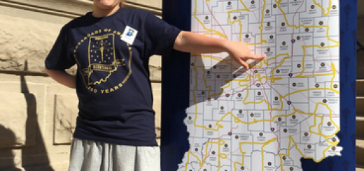 Sabrina Richard shows where the relay will run through Hamilton County. (Submitted photo)