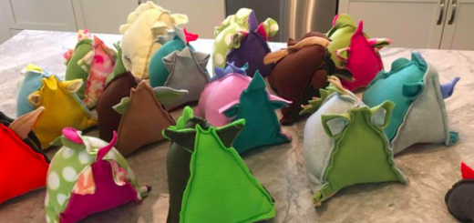 Werzids are soft, triangular-shaped, stuffed toys with different colors and textures on each side. (Submitted photo)