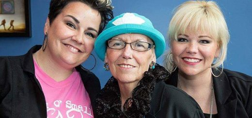 Stephanie O'Hara, Kathy Sumner and Nicole Sumner at the 2015 Cut-a-thon. (Submitted photo)
