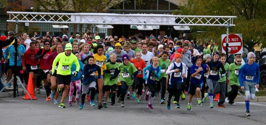 Participants begin a 5K benefiting the Trinity Free Clinic. (Submitted photo)