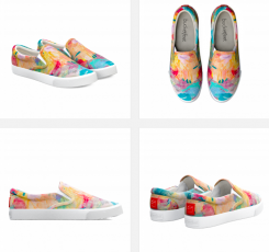 Shoes sold through Bucketfeet feature a painting by Brooks Blackmore, who died at age 6 after fighting brain cancer. (Submitted photo)