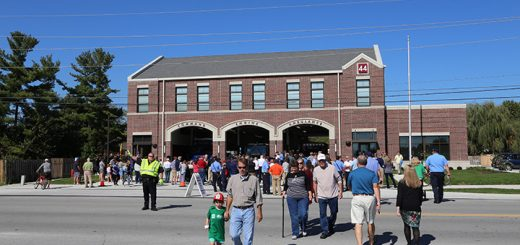 Fire Station 44 held a grand opening ceremony Oct. 9. (Photo by Ann Marie Shambaugh)