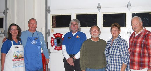 From left, Hoosier Sail & Power Squadron Administrative Director Holly Settles, Executive Officer David Drashil, Communications Officer Jason Settles, Commander Bob Beall, Treasurer Nancy Beall and Dist. 24 Executive Officer Terry Prather.