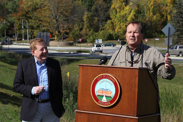 City Council President Ron Carter gives remarks about the completion of the trail. (Photo by Ann Marie Shambaugh)